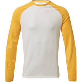 Craghoppers NosiLife Lorenzo Longsleeve T-Shirt Jongens, indian yellow/optic white